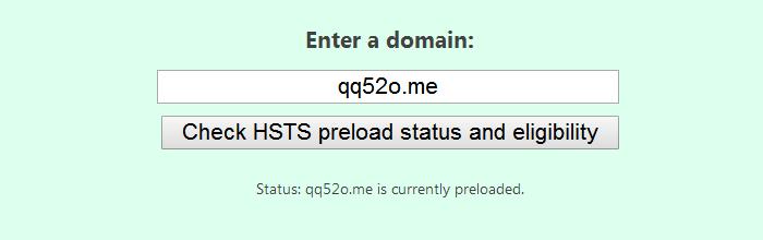 HSTS Preload List 提交成功