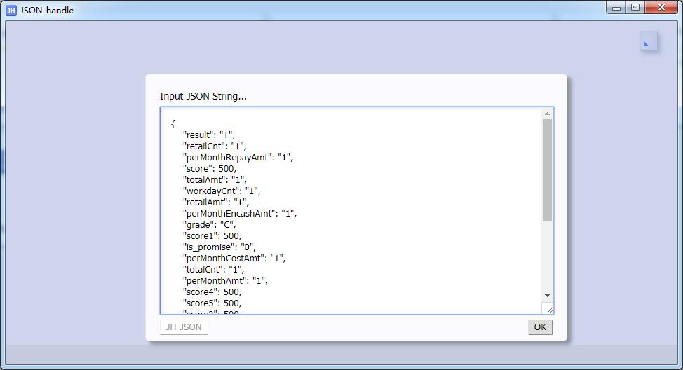 直接输入未格式化的 JSON 数据